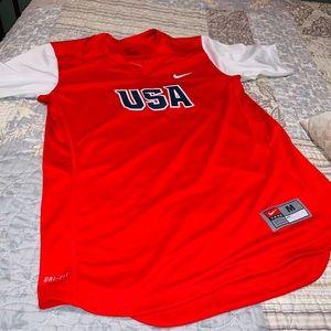 Nike Women's USA Jersey Dri Fit